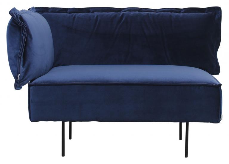 HANDVÄRK The Modular sofa hjørne - Blå Velour - Hjørne