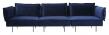 HANDVÄRK The Modular 3-pers. sofa Blå Velour
