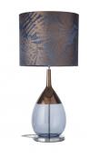 Ebb&Flow - Lute lampefod, blue/copper, Sølv base