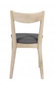Dylan Spisebordsstol, hvidvasket eg, lysgrå filt sæde