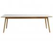 FDB Møbler - C35C Spisebord 220x95 - Eg/Lys grå