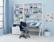 FLEXA - Study - Woody skrivebord m. Vip - Blå