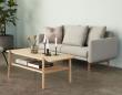 Hübsch Sofabord 120x57 m. hylde - Eg
