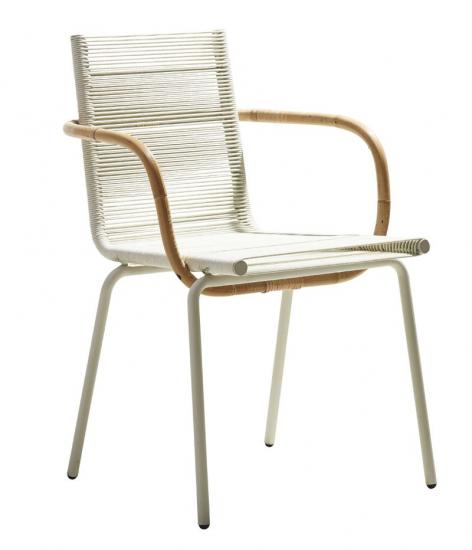 Cane-line - SIDD Spisebordsstol m/arm - Hvid - Cane-line Spisebordsstol