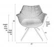 Zuiver Doulton Spisebordsstol - Blå