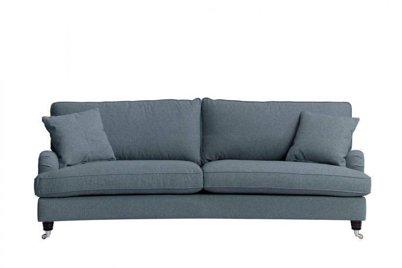 Lancaster 3-pers. sofa - Blå m. hjul