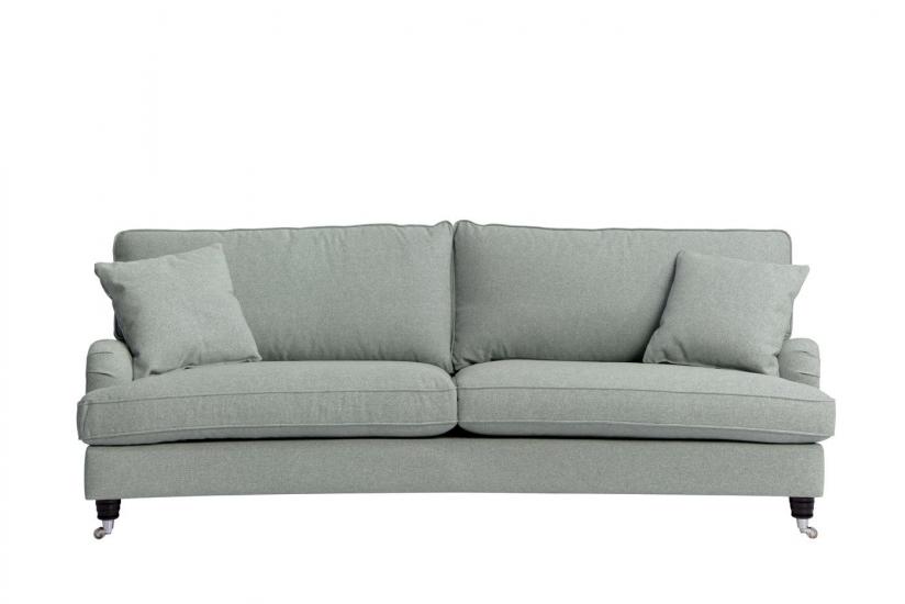 Lancaster 3-pers. sofa m/bue - Aqua m. hjul