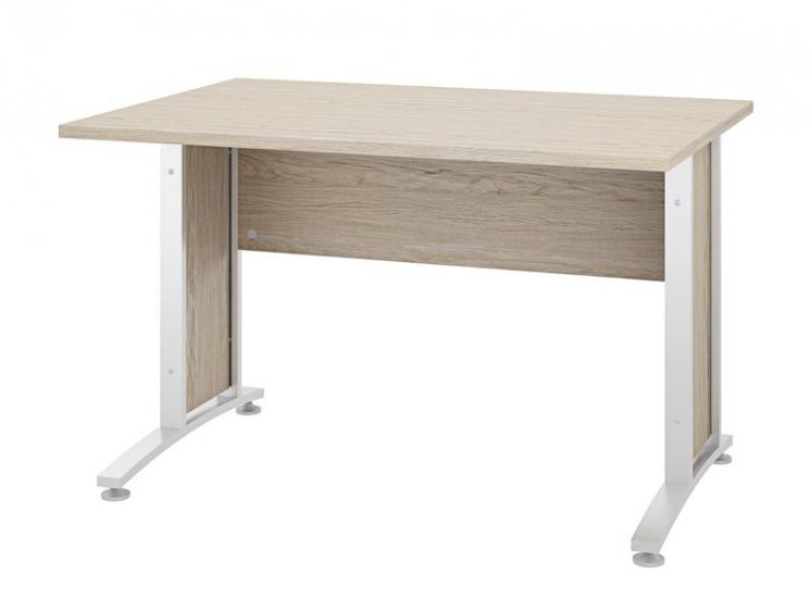 Prima Skrivebord - Skrivebord med egetræs-look