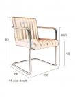 Dutchbone - Stitched Spisebordsstol - Cognac - Cognacfarvet spisestol med sæde i kunstlæder