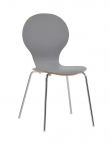 Bubble Spisebordsstol - Lys Grå krydsfinér