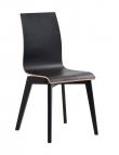 Grace Spisebordsstol - Sort m. sorte ben - Sort spisebordsstol med sortbejdsede ben