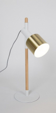 Zuiver Ivy Bordlampe - Hvid/messing