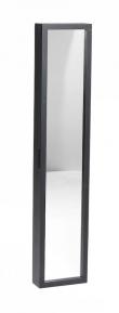 Belina Nøgleskab - Sort - Sort nøgleskab med spejl