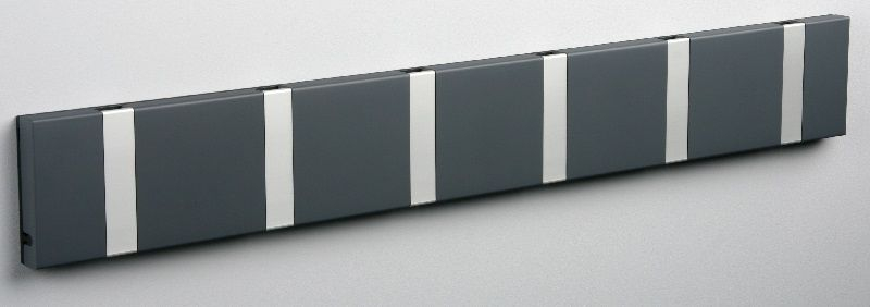 KNAX Knagerække Antracit - 6 grå knager