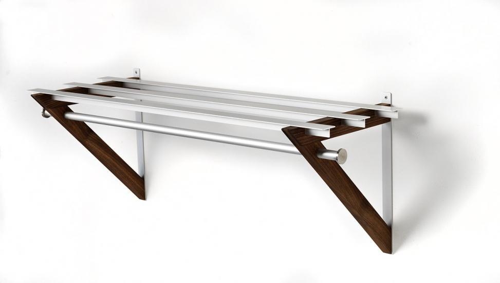 HH-7 Milano Hattehylde - Hattehylde i valnød og aluminium.