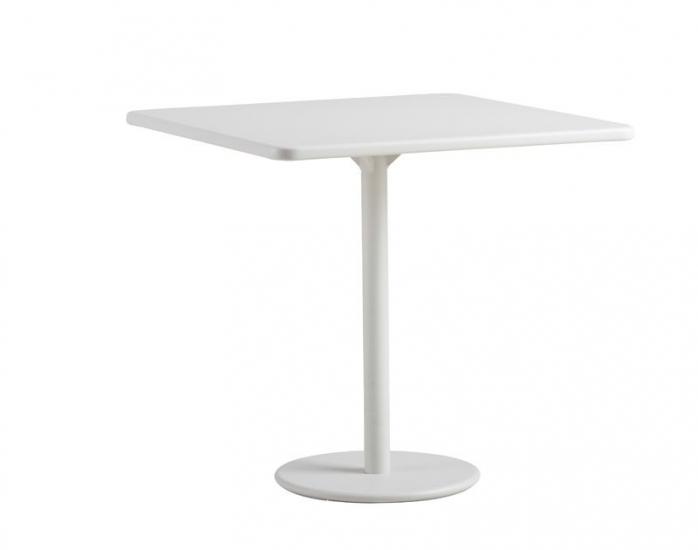 Caneline - GO - 64x64 Cafebord - Hvid - Cane-line cafébord