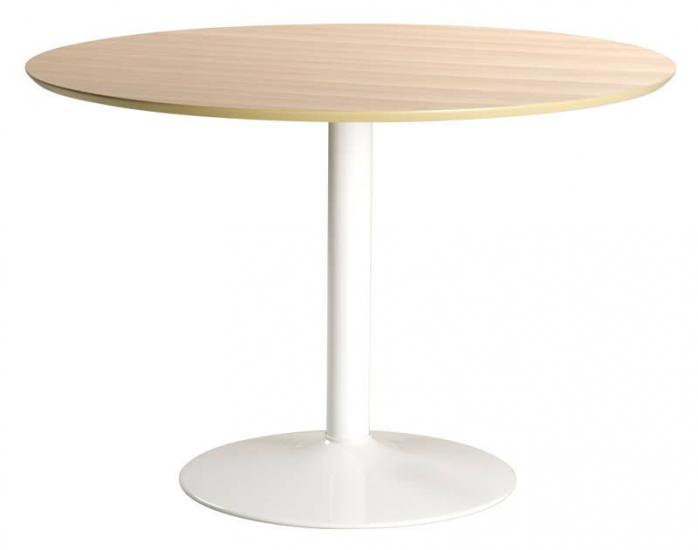 Spain Spisebord - Rundt bord med hvid metalfod