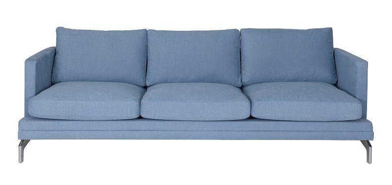 Fernley 3-pers. sofa - Blå Stof - Blå 3-pers sofa