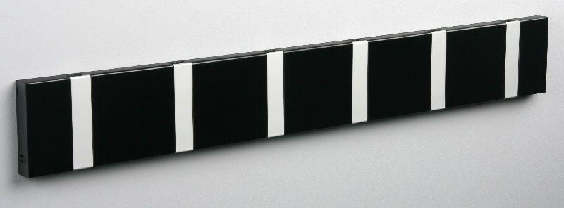KNAX Knagerække Sort - 6 grå knager