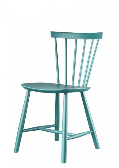 FDB Møbler - J46 Spisebordsstol - Petroleumblå