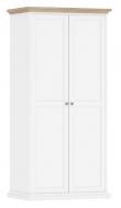 Paris Garderobeskab - Hvid - Hvidt garderobeskab med 2 låger
