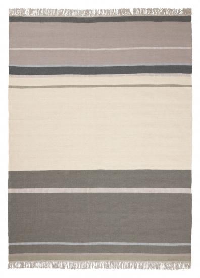 Linie Design Metallum Uld tæppe, Grøn, 170/240