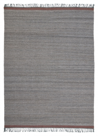 Linie Design Sigyn Uld/Viscose tæppe, Grå, 170/240