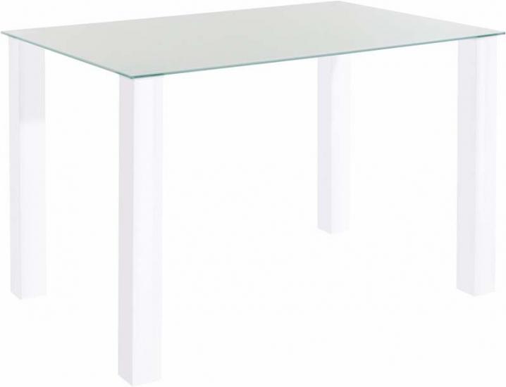 Nat Spisebord Hvid Højglans - 120x80