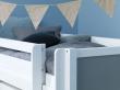 FLEXA Nordic Color Halvhøj Seng 90x200 - Hvid/Grå