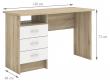 Function Skrivebord - Lys træ/Hvid