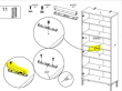 Roomers Vitrineskab m. 2 låger - Hvid/Ege struktur