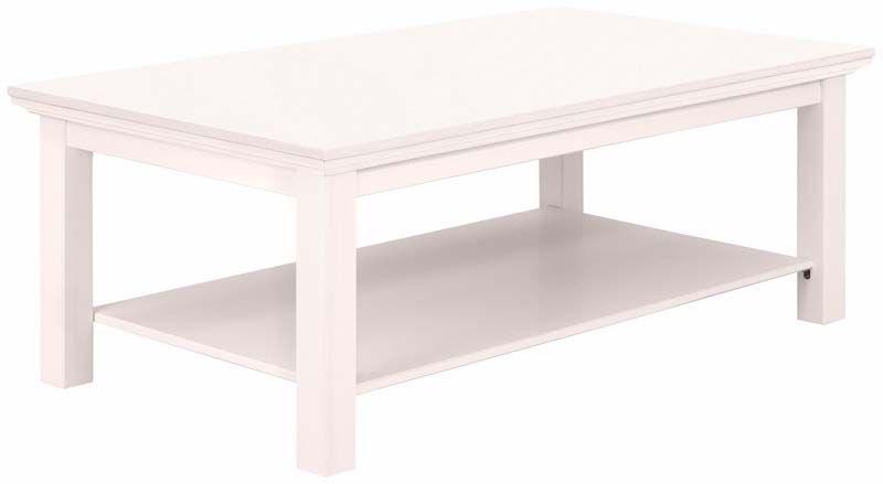 Mie Sofabord hvidpigmenteret fyrretræ - Hvidpigmenteret sofabord med hylde