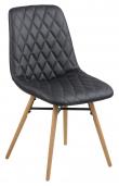 Life Spisebordsstol i læderlook - Sort