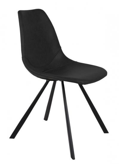Dutchbone - Franky Spisebordsstol - Sort - Svart spisebordstol