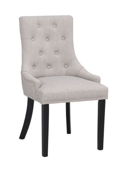 Vicky Spisebordsstol, lys grå, sort