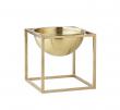 by Lassen - Kubus Bowl 14x14 - Messing