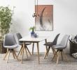 Fryd Spisebordsstol - Lysegrå stof