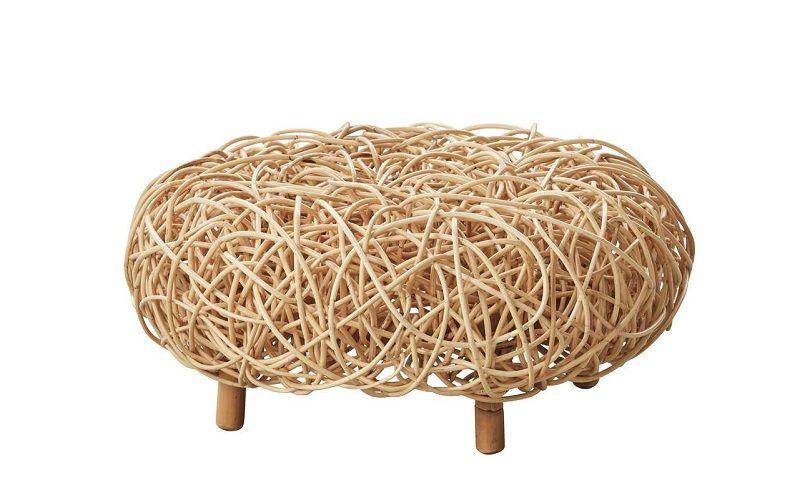 Cane-line - Loop Puf - Natur - Puf i naturligt materiale