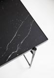 HANDVÄRK - Skrivebord 180x62- Sort Marmor