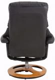 Tony Hvilestol med skammel Gråsort PU