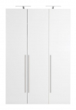 Magnum Garderobeskab - Hvid højglans
