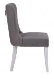Ina Spisebordsstol, Grå, Hvid