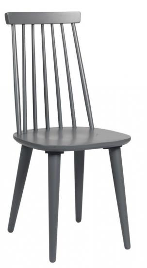 Lotta Spisebordsstol - Mørk Grå lakeret træ - Klassisk tremmestol