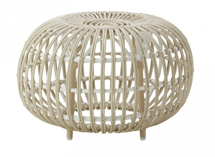 ICONS Ottoman - Dove White, Ø65 - Design - Franco Albini