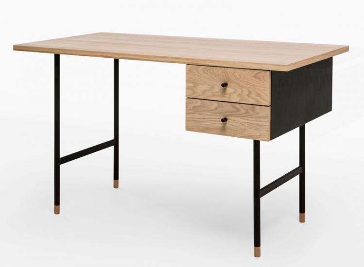 Woodman - Jugend Skrivebord - Lys træ - Skrivebord m/2 skuffer
