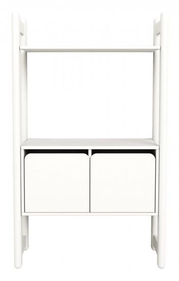 Flexa - Shelfie Midi Reol m/skab - Hvid - Combi C med skabslåger