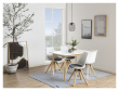Fryd Spisebordsstol i hvid plast - Hynde i mørkegrå
