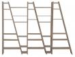 Temahome - Delta Rumdeler - Grå 263x195 - Unik grå  reol/rumdeler i 5 sektioner