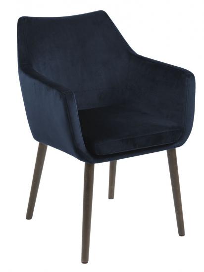 Amada Spisebordsstol m/armlæn - Mørkeblå