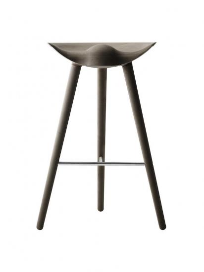 by Lassen - ML42 Barstol - Olieret eg/stål - Barstol i egetræ og stål